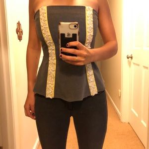 Adorable Eva Franco Strapless Top